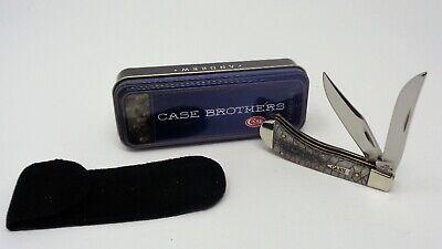 CASE XX Knife, Tony Bose Designed 2006 Snake Skin SMALL SADDLEHORN #TB62110 tin