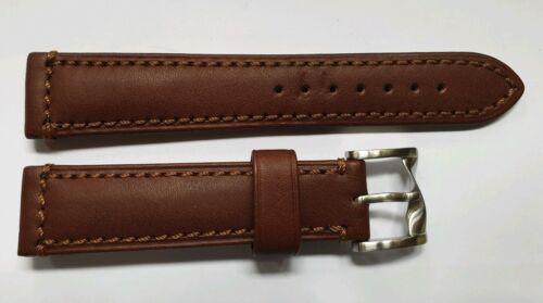 PAUL SMITH Uhrenarmband Leder Braun 20 mm mit Schliesse