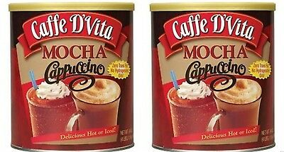 Cappuccino-drink-mix (Caffe D'Vita Hot or Iced Cappuccino Drink Mix, Mocha, 4 lbs Each 2ct)