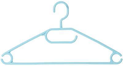 50er Pack Kleiderbügel aus Kunststoff hellblau Breite 40cm Kesper