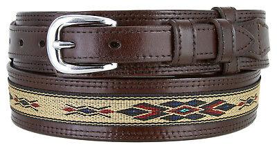 Men's Genuine Leather Durable with Fine Cloth Western Ranger Cowboy Belt - Cowboy Belt