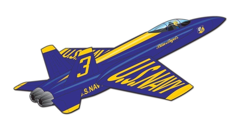 Airplane Kids Kite Blue Angeles F-18 Hornet RipStop Nylon +
