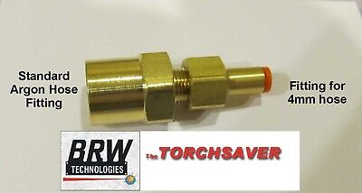 4mm Mig Welder Gas Hose Adapter Regulator Argon - Brw-402x4mm