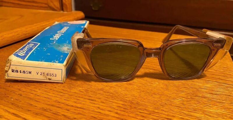 Vintage Norton Protective Safety Glasses 2848SM Original Box  L@@K!!!