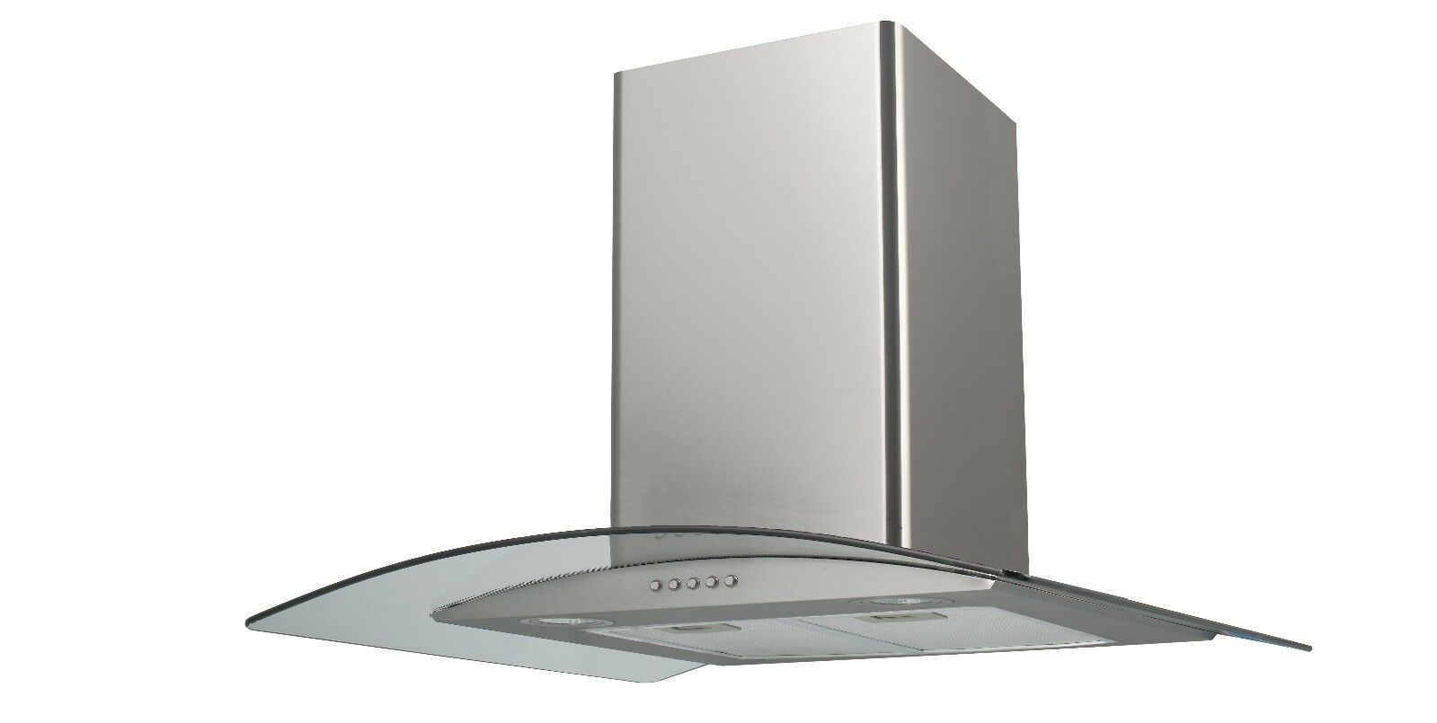 saga eh70gs 70cm stainless steel glass kitchen extractor