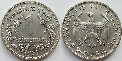 TOP! 1 MARK 1937 J in VORZÜGLICH / STEMPELGLANZ SELTEN !!!
