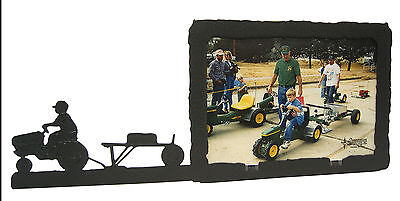 Pedal Tractor Boy Farm Cowboy Picture Frame 5x7 H