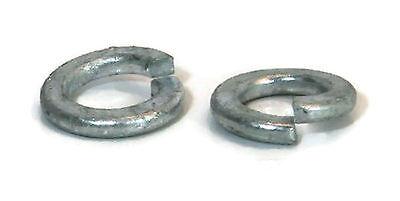 Split Ring Lock Washer Hot Dip Galvanized - 3/8 OD 0.68 ID 0.385 - Qty-100 Ring Hot Dip