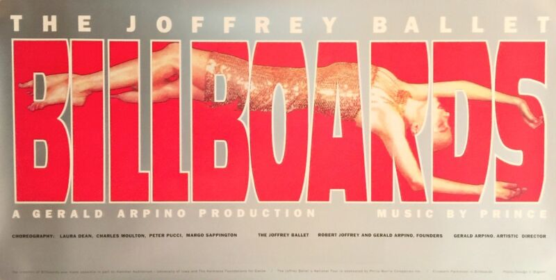 "JOFFREY BALLET BILLBOARDS ORIGINAL 1993 POSTER  17"" X 34"" NEW"