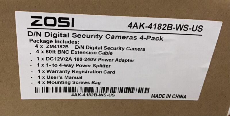 ZOSI 4 Pack 1080P Security Cameras 2.0MP Waterproof Outdoor Indoor 80ft Day