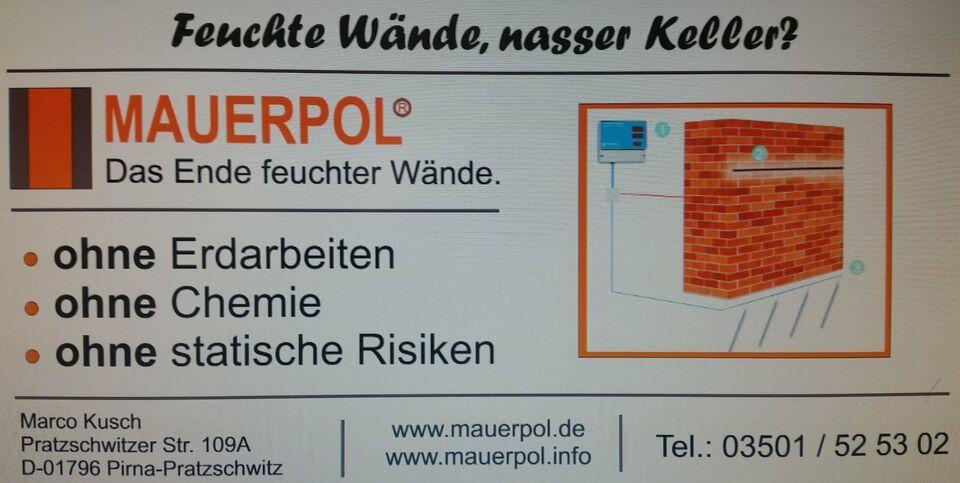 Nasse Wände preiswert selber trocknen ? in Pirna