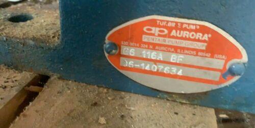 AURORA Pentair Turbine Pump End Only, G6 116A BF, G6-116A-BF, 06-1407634