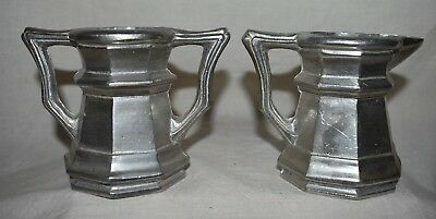 Pewter Sugar and Creamer Gemetal 8228192 Made in Taiwan over 3 inches tall