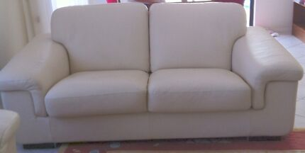 2 x 2 & half seater  Leather King Lounges Blakehurst Kogarah Area Preview