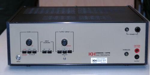 Krohn-Hite 7500 DC-1MHz Wideband Power Amplifier, Factory Calibrated