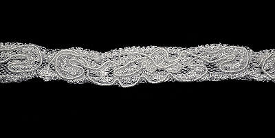 "Unotrim White 0.5"" Corded Venice Lace Trim Sewing Notions, A"