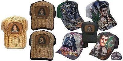 TATTOO Santa Muerte Malverde Tamaulipas Rhinestone Trucker Mesh Fashion Cap - Santa Caps
