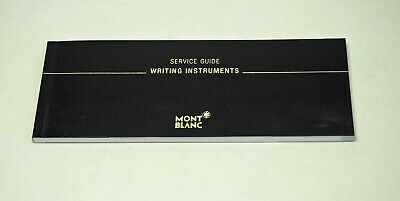 Mont Blanc Warranty and Instruction Booklet from the early 2000's not stamped