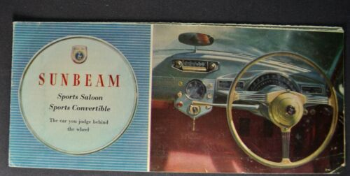1955 Sunbeam Brochure Folder Sports Saloon Sports Convertible Nice Original 55