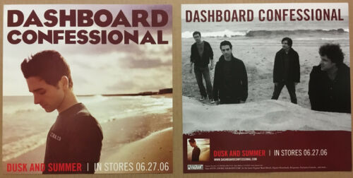 DASHBOARD CONFESSIIONAL Rare Set of 2 DOUBLE SIDED PROMO POSTER FLAT of 2005 CD