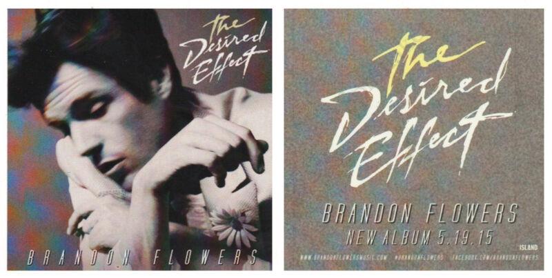 BRANDON FLOWERS The Desired Effect 2015 Ltd Ed RARE Sticker +FREE Rock Stickers!