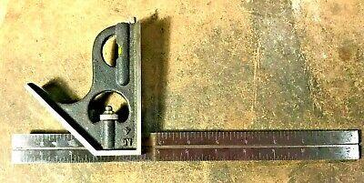 Vintage Craftsman Usa 4 Hardened 12 Machinist Square Head Bubble Level Scribe
