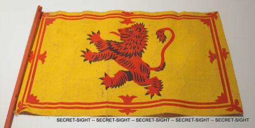 1951 SCOTLAND Parade Flag SCOTTISH LION RAMPANT 13 x 8