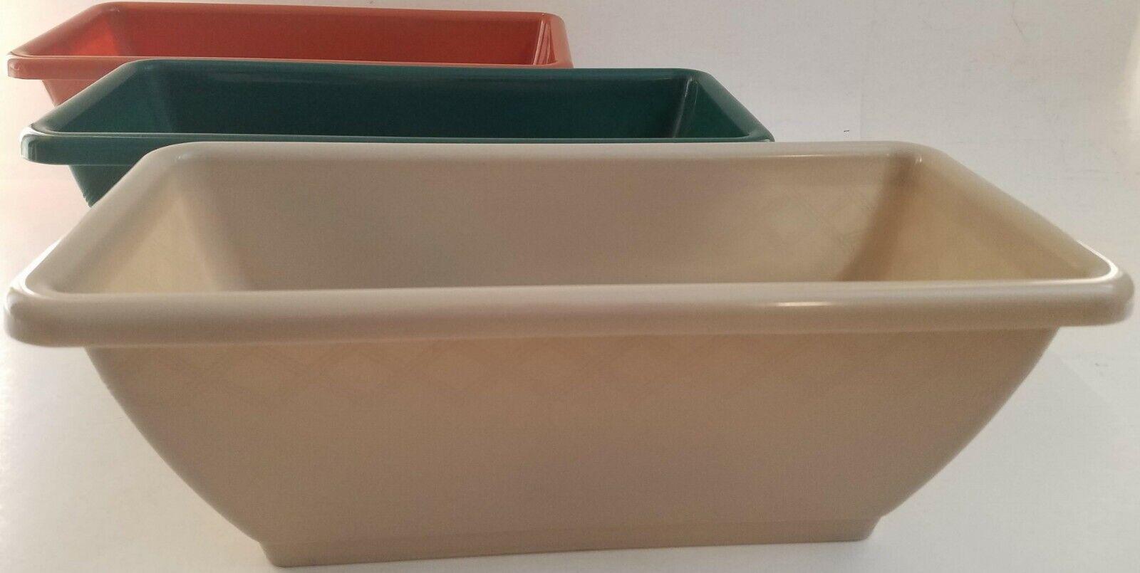 rectangular plastic planters 5h x 13 8l