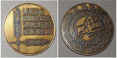 Plakette 1. ADAC Bayerwald Rallye 14. August 1976 Automobilsport-Club Kötzting