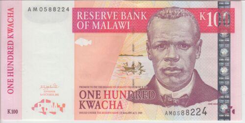 MALAWI BANKNOTE P46c 100 KWACHA 2001, UNC