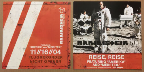 RAMMSTEIN Rare 2004 Set 2 DOUBLE SIDED PROMO POSTER FLAT w/DATE 4 Reise CD MINT