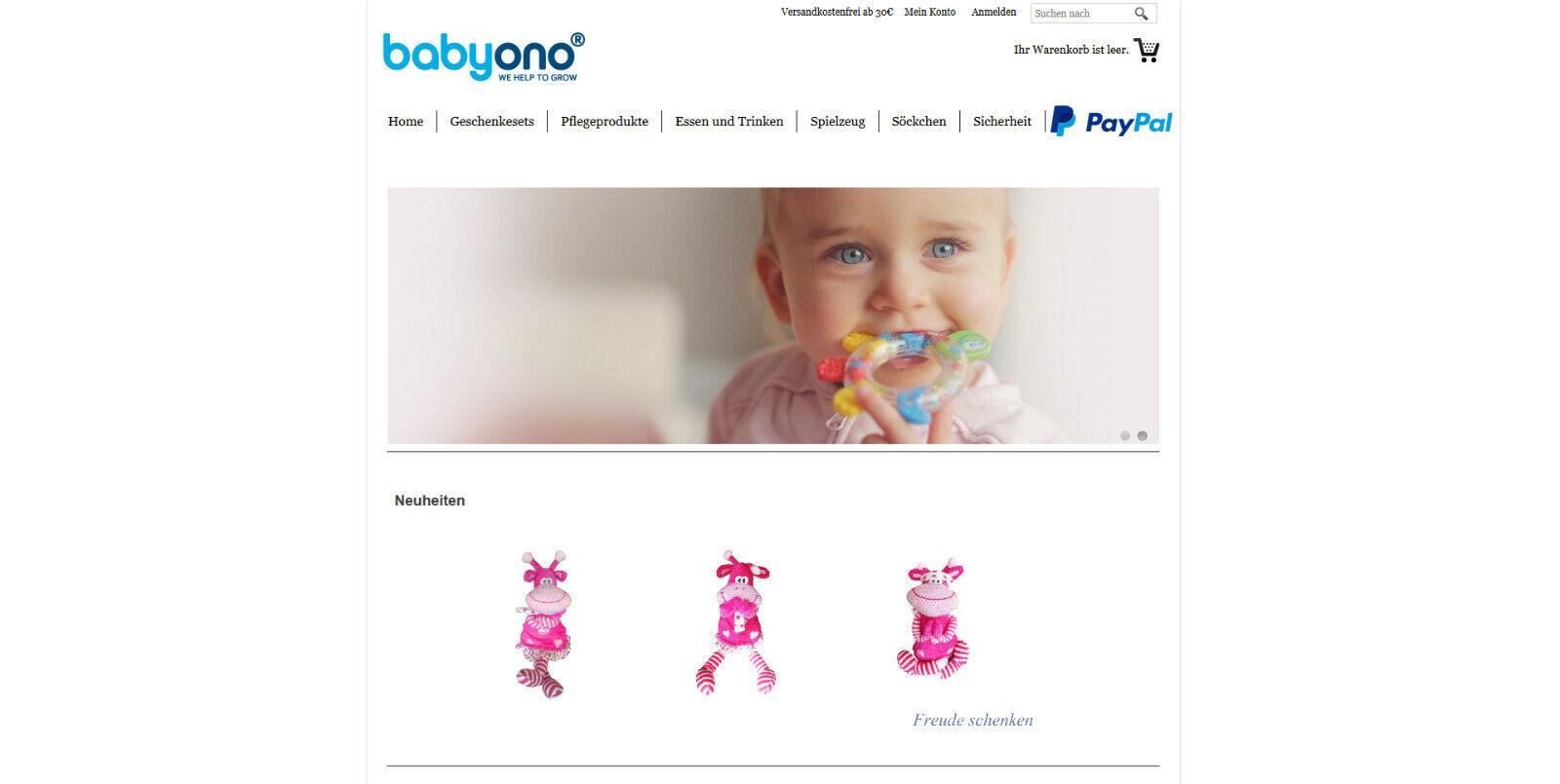 Online-shop für Babyartikel mit Warenbestand www.baby-ono.de zu verkaufen