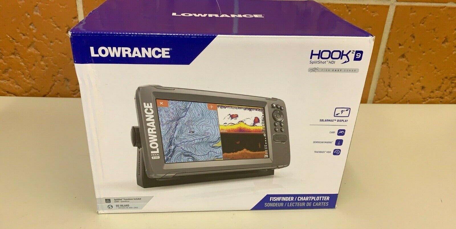 Lowrance HOOK2-9 SplitShot Fishfinder Chartplotter US Inland