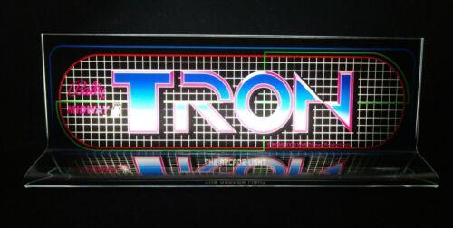 "TRON Backlit 4"" x 11"" Marquee w/ The Arcade Light Box Display"