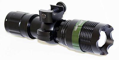 Hunting 800 Lumens LED Tactical Flashlight Weaver Mounted For Shotguns/Rifles.