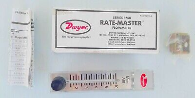 Dwyer Rate-master Model Rma-21-ssv Flow Meter 2 Scale - New