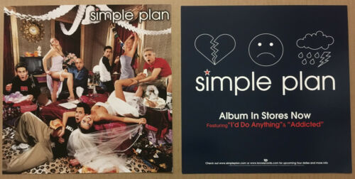 SIMPLE PLAN Rare 2003 Set of 2 DOUBLE SIDED PROMO POSTER FLAT for Pads CD USA