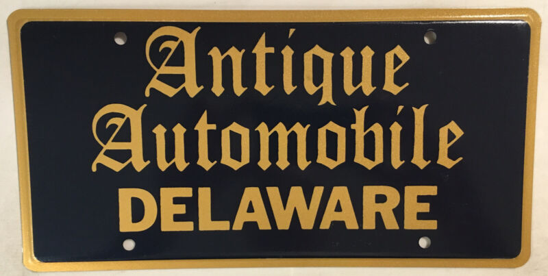 DE ANTIQUE CLASSIC AUTOMOBILE license plate Historic collector Car Hot Rat Rod