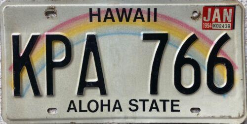 Hawaii Aloha State Rainbow American License USA Number Plate Tag KPA 766