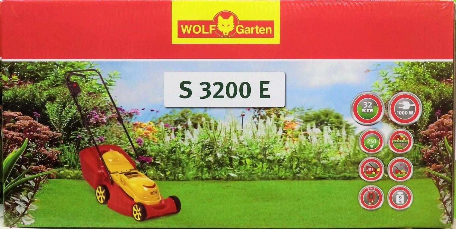 WOLF-Garten Elektro-Rasenmäher S 3200 E, Schnittbreite 32 cm, mit Fangkorb, NEU