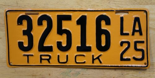 1925 Louisiana TRUCK License Plate