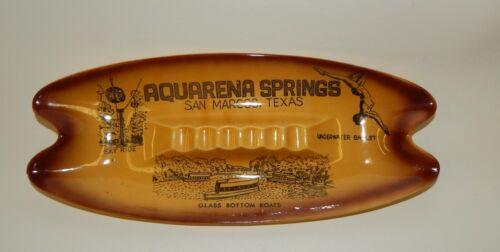 Vintage Aquarena Springs San Marcos Texas Souvenir Boomerang Retro Ashtray