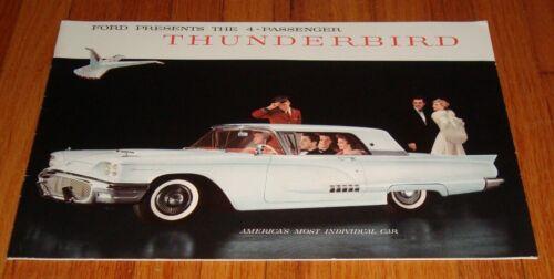 Original 1958 Ford Thunderbird Deluxe Sales Brochure