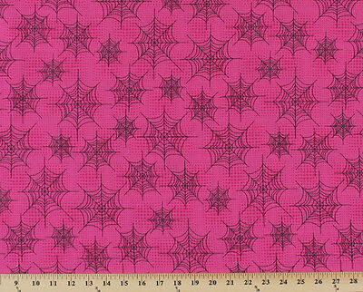 Spiderwebs Cobwebs on Pink Eerie Alley Halloween Cotton Fabric Print BTY D692.28](Spiderwebs Halloween)