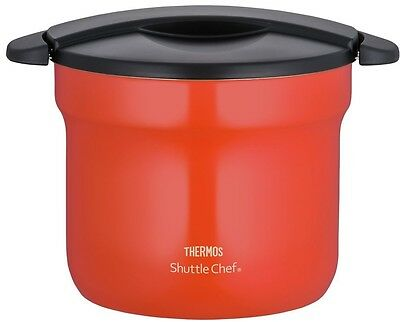 THERMOS Vacuum Thermal Insulation Pot Cooker 4.3L Tomato KBF-4501 Free Shipping