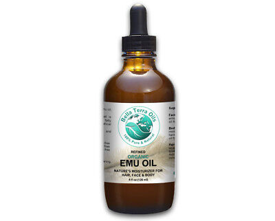 Emu Oil 4 oz 100% Pure Fully Refined Filtered Organic