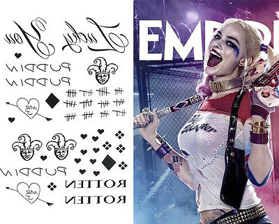 Sucide Squad Harley Quinn Cosplay Costume Waterproof temporary tattoo Body Art - Harley Quinn Tattoo