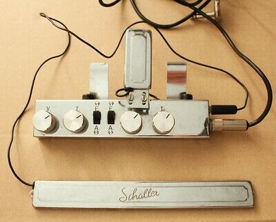VINTAGE SCHALLER 2 PICKUPS FOR ACCORDION WITH VOLUME AND TONE CONTROLS