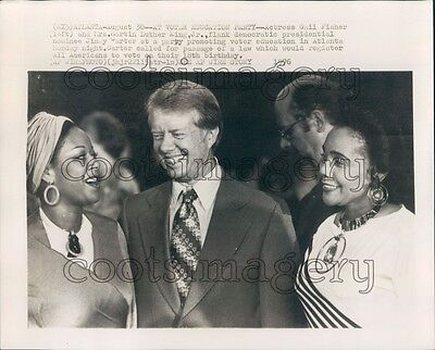 1976 President Jimmy Carter Coretta Scott King Actress Gail Fisher Press Photo