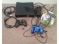 Xbox 360S Console + Kinect + 6 games